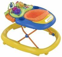 הליכון לתינוק עם פעלולון אלקטרוני ווקי טוקי - Walky Talky צהוב/כחול/כתום