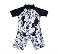בגד ים שלם מיני מאוס לתינוקות בצבע שחור/לבן