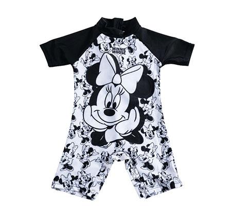 בגד ים מיני מאוס לתינוקות - שחור/לבן