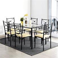 פינת אוכל דגם מדונה כולל 6 כסאות תואמים HOMAX