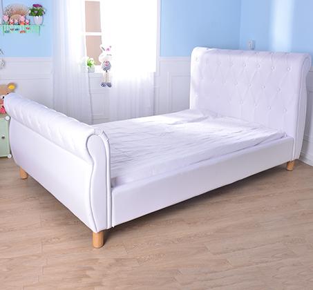 מיטת נוער/מיטה וחצי בשילוב כפתורי קפיטונאז' תואמים דגם נסיכה בצבע לבן קוקולה - תמונה 5