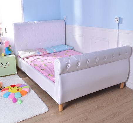 מיטת נוער/מיטה וחצי בשילוב כפתורי קפיטונאז' תואמים דגם נסיכה בצבע לבן קוקולה - תמונה 7