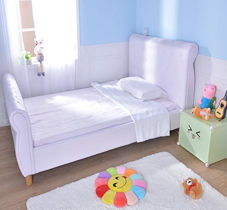 מיטת נוער/מיטה וחצי בשילוב כפתורי קפיטונאז' תואמים דגם נסיכה בצבע לבן קוקולה - תמונה 6