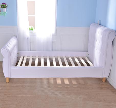 מיטת נוער/מיטה וחצי בשילוב כפתורי קפיטונאז' תואמים דגם נסיכה בצבע לבן קוקולה - תמונה 4