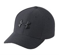 כובע מצחייה Under Armour Boys' UA Heathered Blitzing 3.0 Cap בצבע שחור