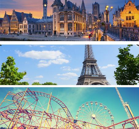 8 ימי טיול מאורגן להולנד, בלגיה וצרפת כולל היורודיסני ואפטלינג החל מכ-$1060*