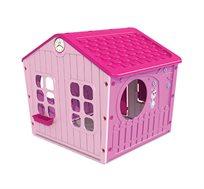 בית משחק מעוצב ורוד לילדות כולל חלונות ודלת כניסה Starplast
