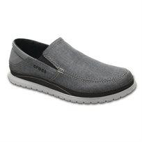 Crocs Santa Cruz Playa Slip-On - נעלי ספורט אלגנט קרוקס לגברים מבד קנבס בצבע אפור