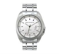 שעון יוקרתי לגבר French Connection עם רצועת סטיינלס סטיל - כסוף