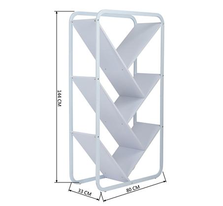 ארונית מדפים אלכסוניים דגם ג'ולייט HOMAX ב-2 גוונים לבחירה - תמונה 4