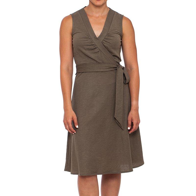 שמלת  מעטפת צבע זית