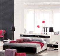 מיטה זוגית ו-2 שידות תואמות בגימור מבריק יוקרתי תוצרת צרפת HOME DECOR