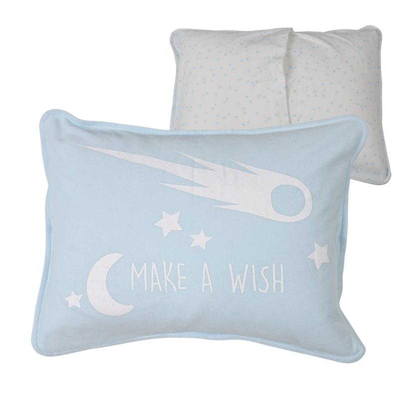 ציפית לכרית תינוק, כחול בהיר כוכבים - מיננה