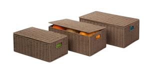 סט 3 קופסאות ראטן מבית honey can do