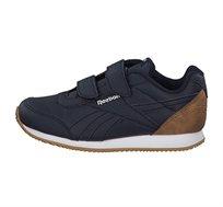 נעלי סניקרס Reebok לילדים דגם Royal CLJog 2 2V בצבע כחול נייבי/לבן/חום