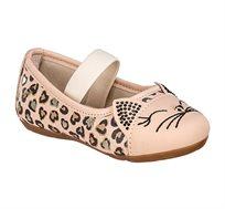 נעלי בובה חתול לבנות - בז'