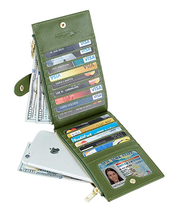 Lambo Wallet Multi Card Case Army Green - תמונה 3