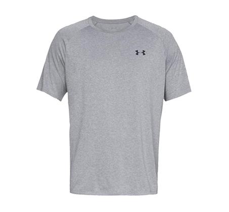 חולצת אימון Under Armour Tech 2.0 SS לגברים - אפור בהיר