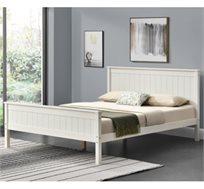 מיטה זוגית מעץ מלא דגם LINOR