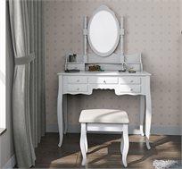 שידת איפור מעוצבת עם כסא תואם דגם אפרודיטה