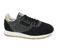 סניקרס לגבר Classic Leather EBK בצבע שחור/בז'/לבן