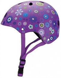 קסדה בטיחותית ומעוצבת עם מנגנון התאמה לראש - סגול