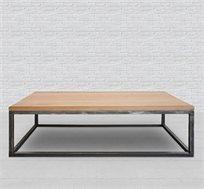שולחן סלון בשילוב ברזל ועץ