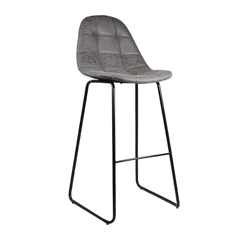 כסא בר מרופד לפינת האוכל מעוצב בסגנון מודרני בצבעים לבחירה דגם סטיץ' U DESIGN - משלוח חינם - תמונה 2