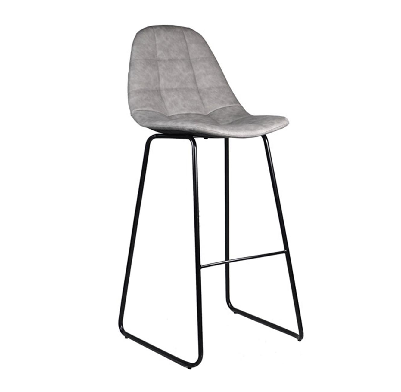 כסא בר מרופד לפינת האוכל מעוצב בסגנון מודרני בצבעים לבחירה דגם סטיץ' U DESIGN - משלוח חינם - תמונה 3