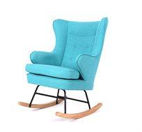 כסא נדנדה מעוצב בריפוד עבה ונעים למגע בשני צבעים לבחירה