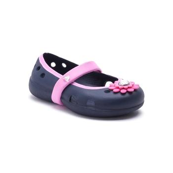 Crocs Keeley Petal Charm Flat - נעלי בובה לילדות בצבע נייביורוד