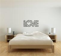 שלט מעוצב לתלייה בחיתוך לייזר דגם Love קטן קיים ב2 גדלים