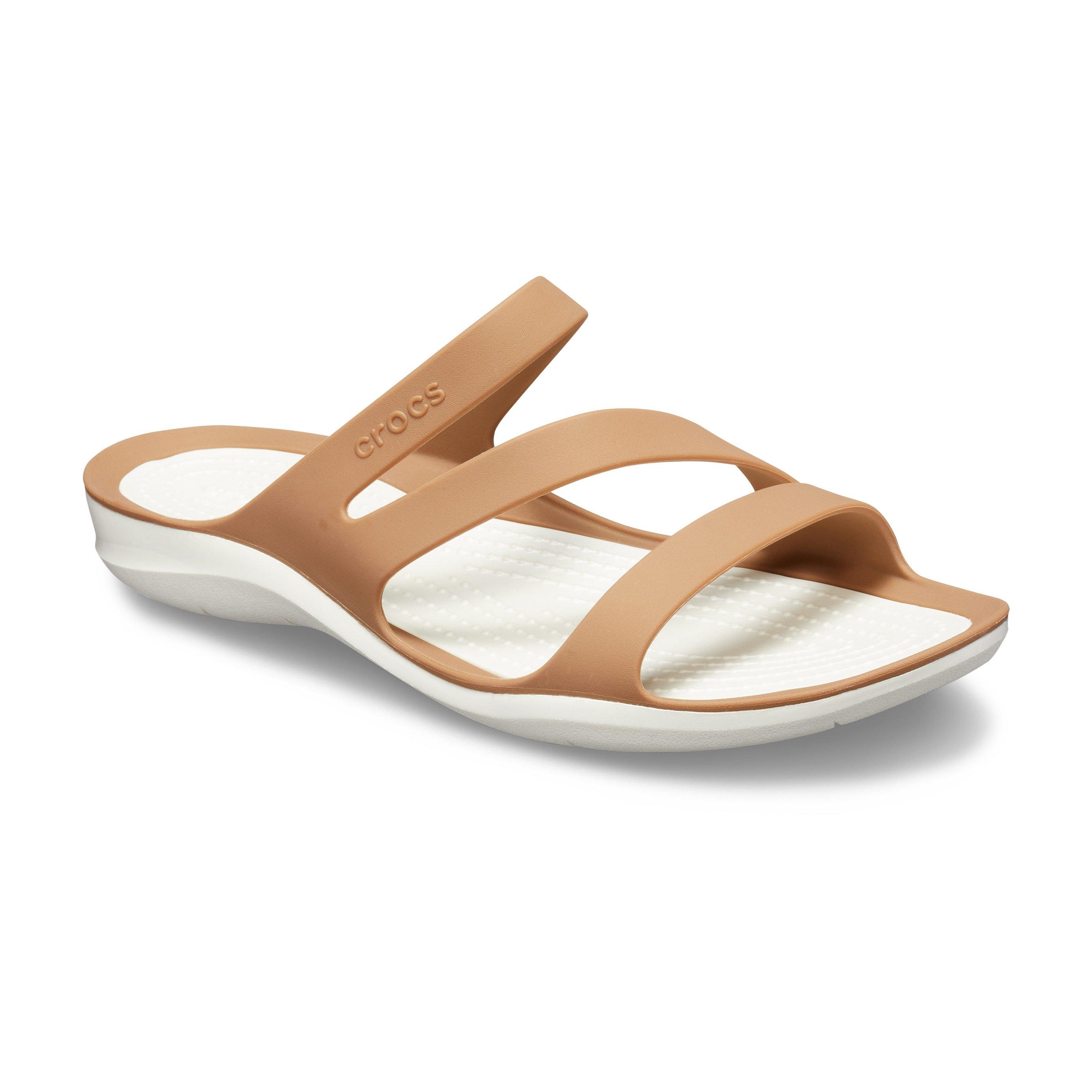 Crocs Swiftwater Sandal - כפכף רצועות לנשים בצבע ברונזה