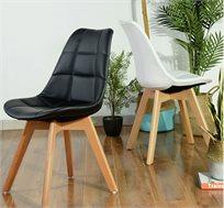 זוג כסאות בריפוד דמוי עור או בד דגם פאביו בצבעים לבחירה