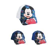 2 כובעי בייסבול מיקי מאוס לילדים - דגם לבחירה