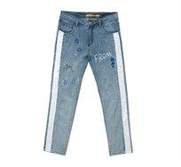 ג'ינס בשילוב רקמות ופייטים לאישה Desigual דגם Dublin בצבע כחול
