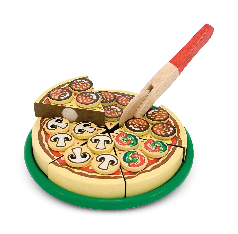 משחק מיוחד להכנת פיצה מעץ לילדים מבית Melissa & Doug - תמונה 3