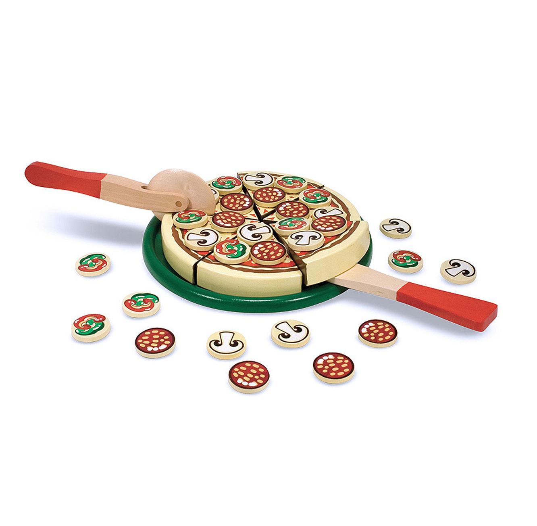 משחק מיוחד להכנת פיצה מעץ לילדים מבית Melissa & Doug - תמונה 2