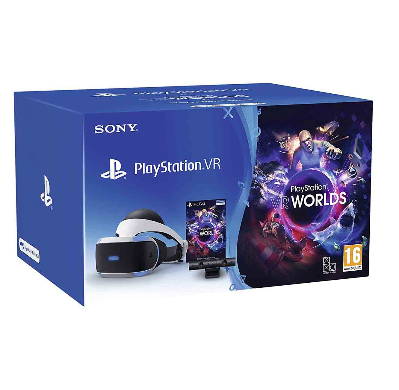 מציאות מדומה VR לקונסולה PlayStation 4 כולל מצלמה +משחק VR WORLDS