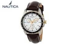 שעון עור לגברים מבית Nautica דגם N11502G