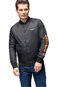 מעיל דגם A1N8E-001 לגברים - שחור/כתום