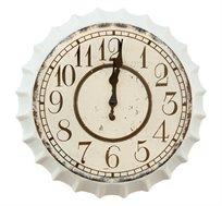 שעון קיר בעיצוב פקק לבן וינטג העשוי מתכת U DESIGN