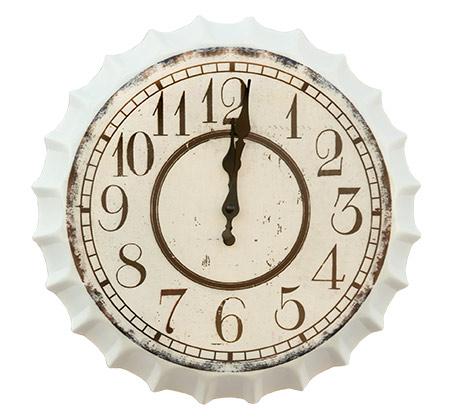 שעון פקק לבן וינטג