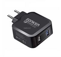 מטען קיר FONKEN מהיר 2 שקעי USB בתקן QUALCOMM QUICK CHARGE 3.0