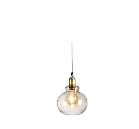 מנורת תליה חצי כדור שון בגימור נחושת