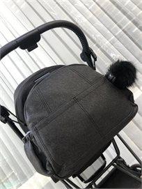 Bag - B תיק החתלה- דיימונד שחור