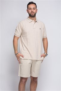 חולצת פולו קרם POLO RALPH LAUREN CLASSIC FIT