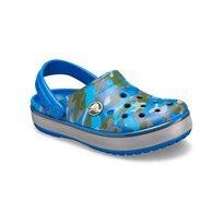 Crocs Sandale Crocband Camo Reflect Band Clog - כפכף קלוג בצבע כחול קולבלט בהדפס הסוואה