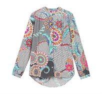 חולצה מכופתרת בהדפס מנדלה צבעוני לנשים Desigual דגם Verene