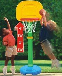 מתקן כדורסל לילדים 3-6 עם מעמד לבית ולחצר